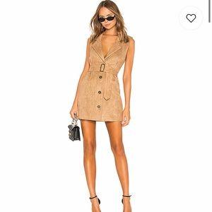 Suede light brown lovers + friends dress